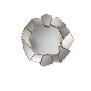 Crackle Round Mirror