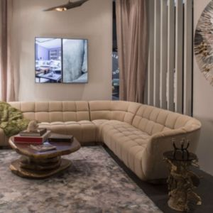 Luxury sofa with golden details