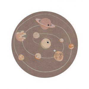 Solar System Round Rug